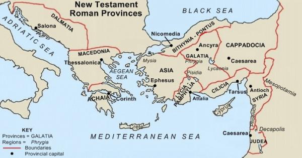 roman map -
